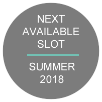 Next Available Slot - Summer 2018