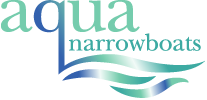 Aqua Narrow Boats Sticky Logo