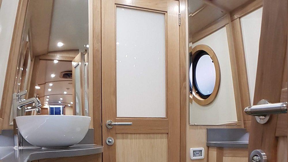 luxury bathroom on narrowboat