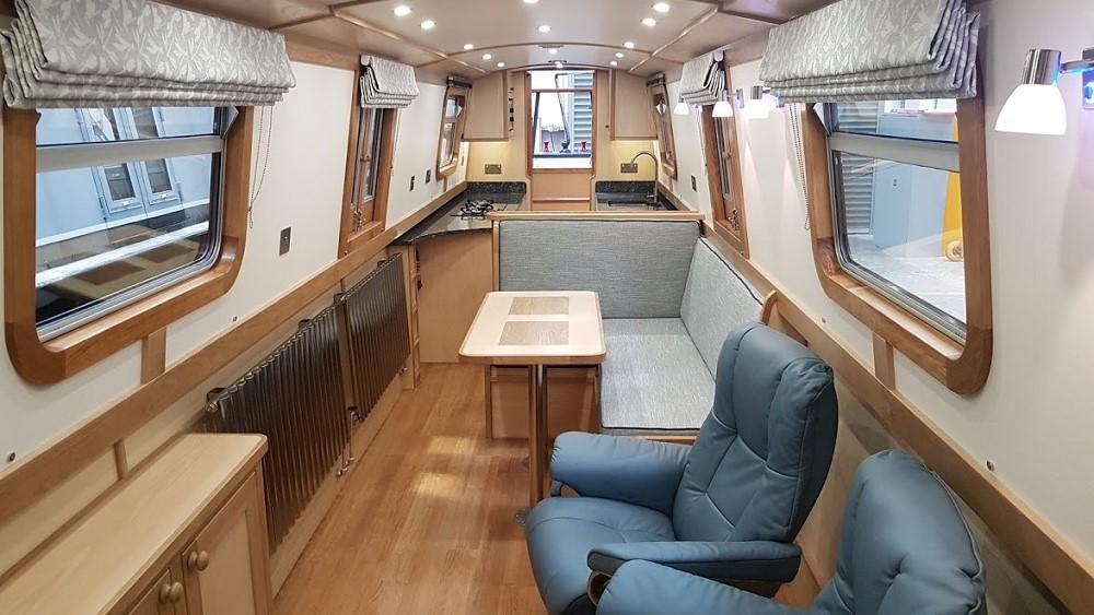 narrowboat saloon