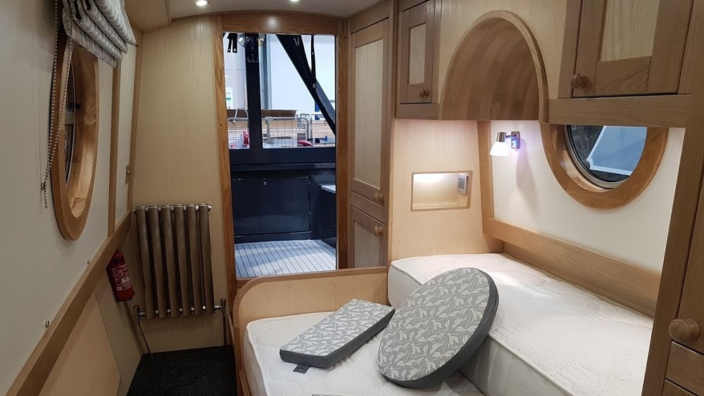 narrowboat cabin